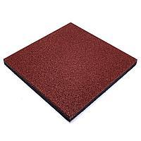 Резиновая плитка травмобезопасная 500*500*16мм красная