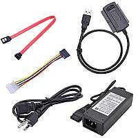 Кабель/Адаптер внешний с USB 2.0 на 3.5''/2.5'' IDE/SATA (активный)