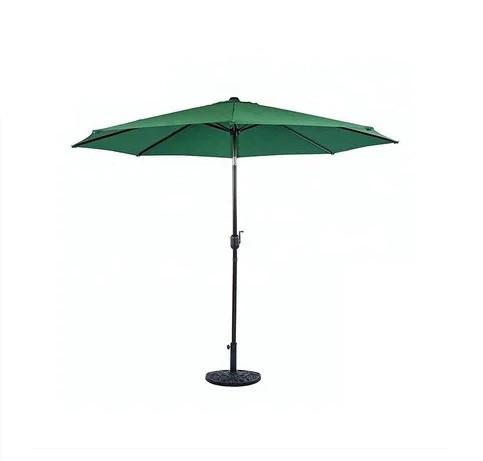 Зонт летний круглый с подставкой d=2.6м (Зеленый, Бронза)