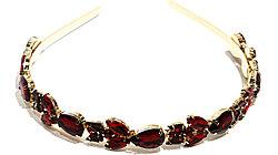 Ободки  Brosh Jewellery. Кристалл бордовый
