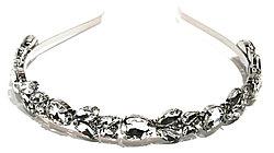 Ободки  Brosh Jewellery. Кристалл серебряный