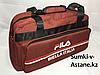 Спортивная сумка FILA. Высота 28 см, длина 50 см, ширина 20 см.