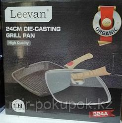Сковородка гриль 24 см на 1,6 литров  с крышкой