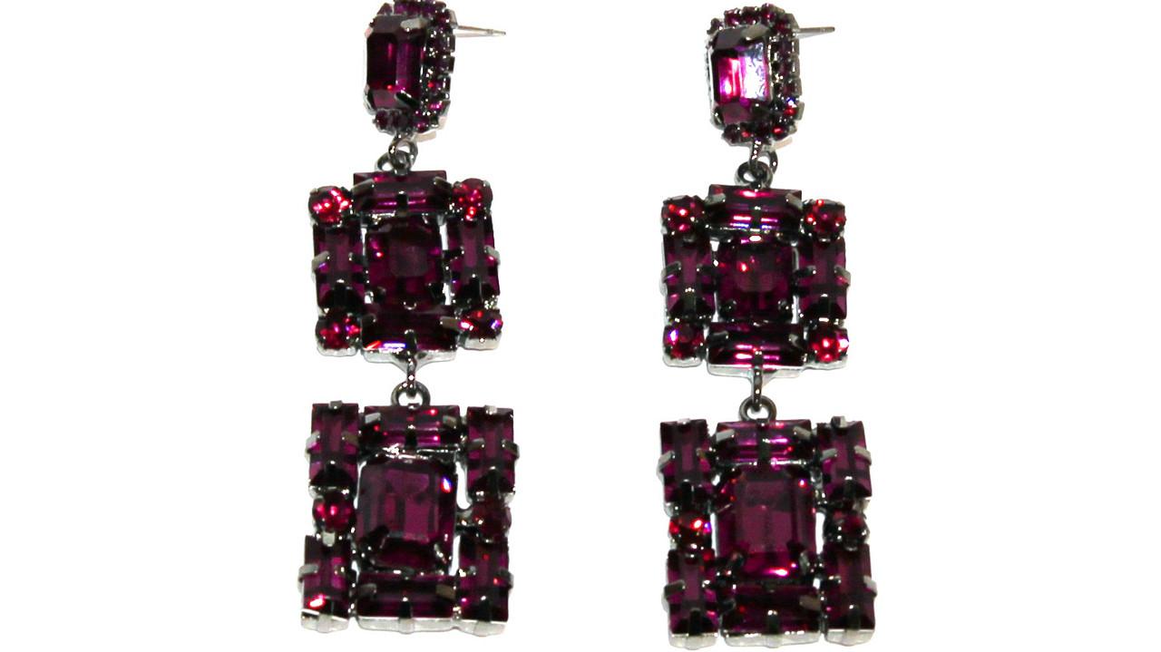 Вечерние серьги Brosh Jewellery (вишневый Кристалл)