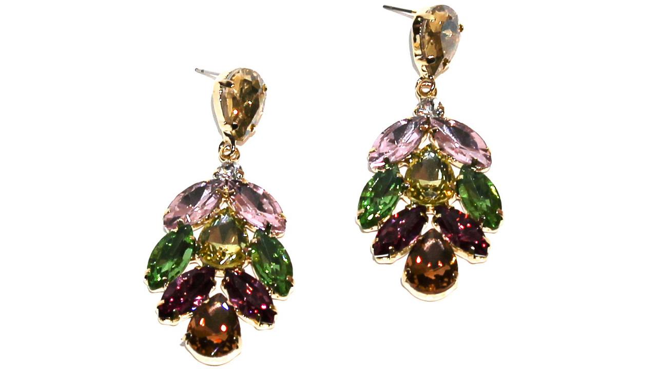 Вечерние серьги Brosh Jewellery (микс Кристалл)