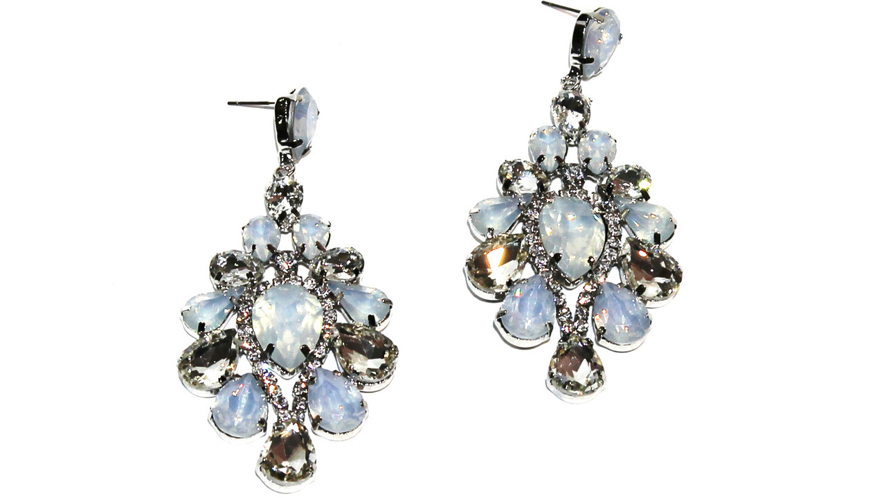 Вечерние серьги Brosh Jewellery (Голубой Кристалл)