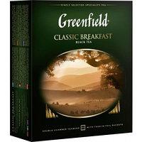 Greenfield черный чай Classic Breakfast, 100 пакетиков