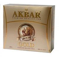 Akbar черный чай Золотой, 100 пакетиков