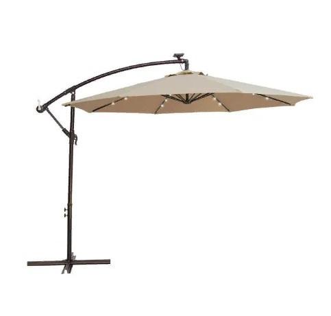 Зонт Banana с подсветкой LED круглый (бежевый), d=3м