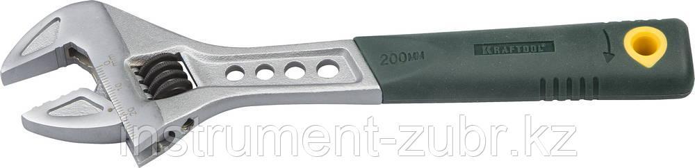 Ключ разводной Tiger, 200 / 30 мм, KRAFTOOL