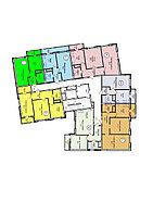 2 комнатная квартира в ЖК Техникум 2 69.9 м²