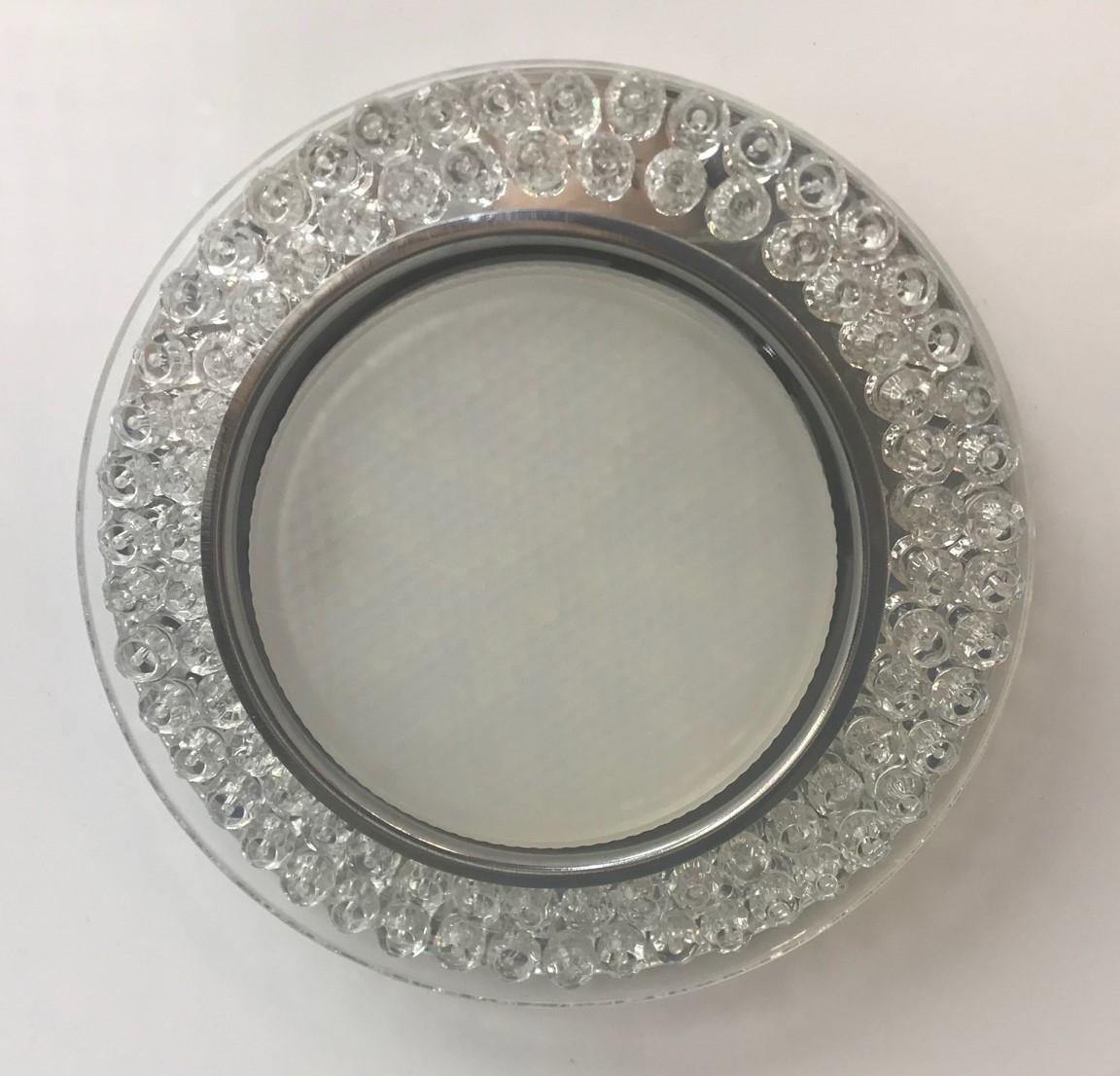 Светильник GX53 L240 прозрачное стекло + подсветка