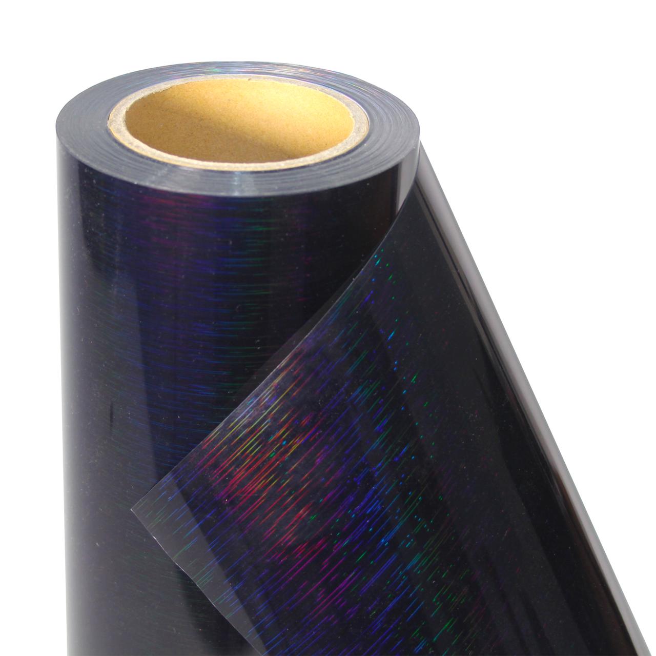 Термо флекс 0,5мх25м PU голографический черный