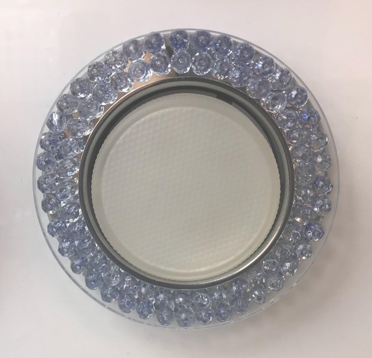 Светильник GX53 L240 голубое стекло + подсветка