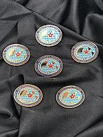 Медали круглые глобус