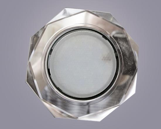 Светильник GX53 хром+стекло 8 углов. Золото