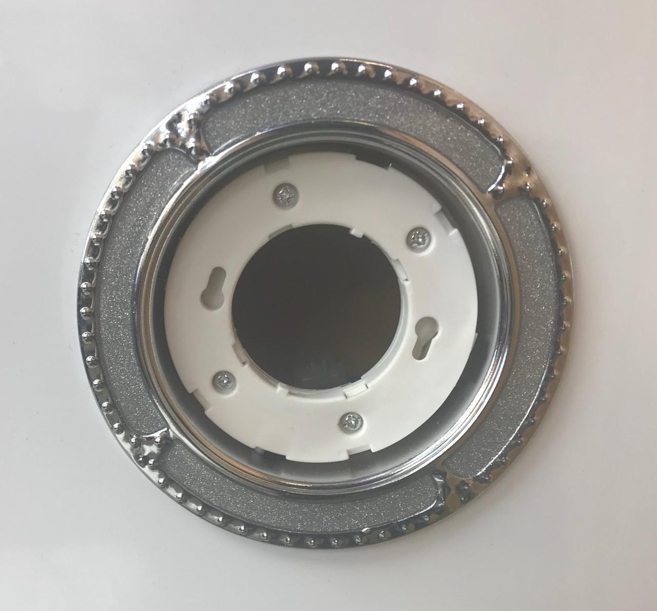 Светильник GX53 хром+серебро 1
