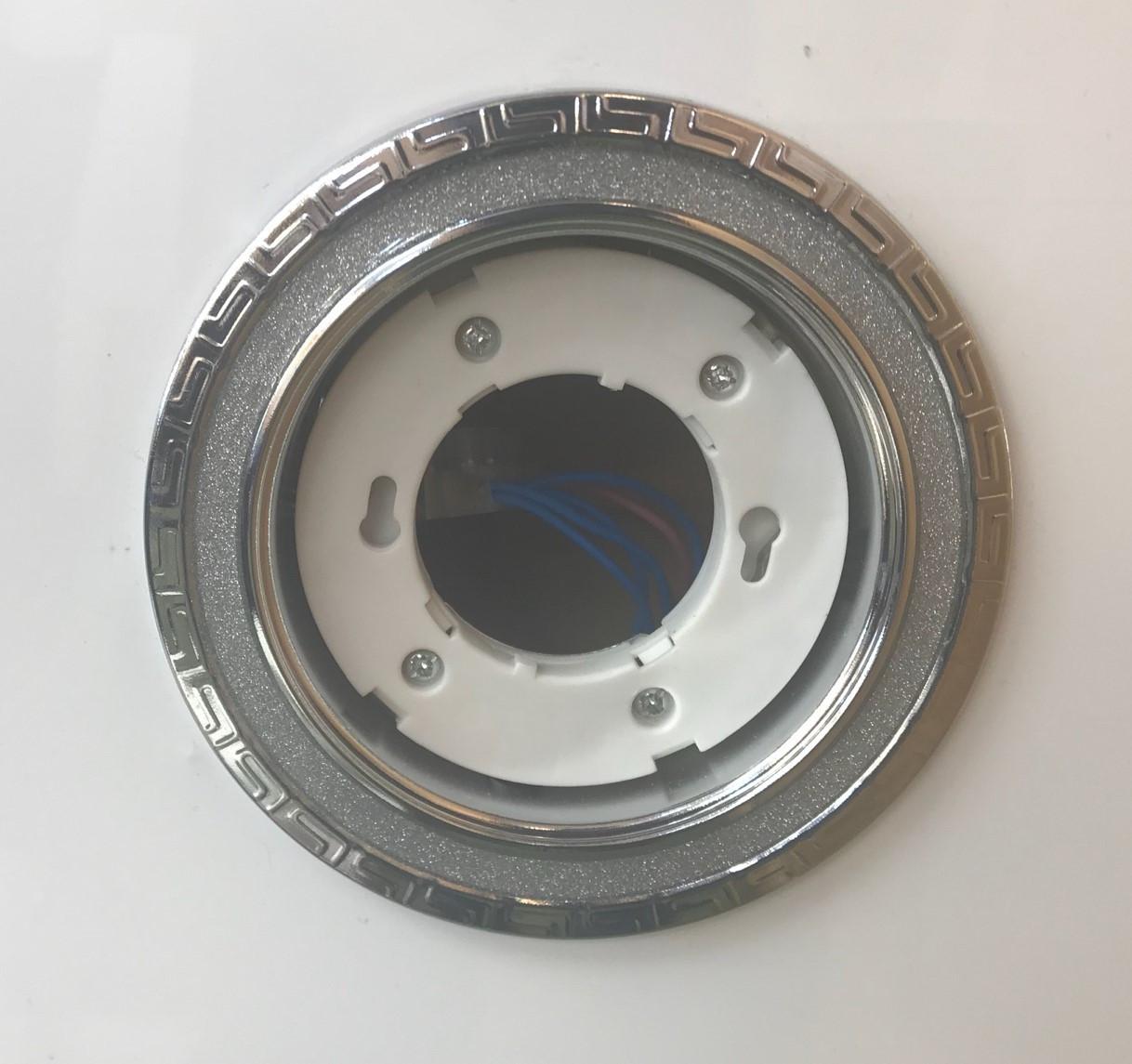 Светильник GX53 хром+серебро 2