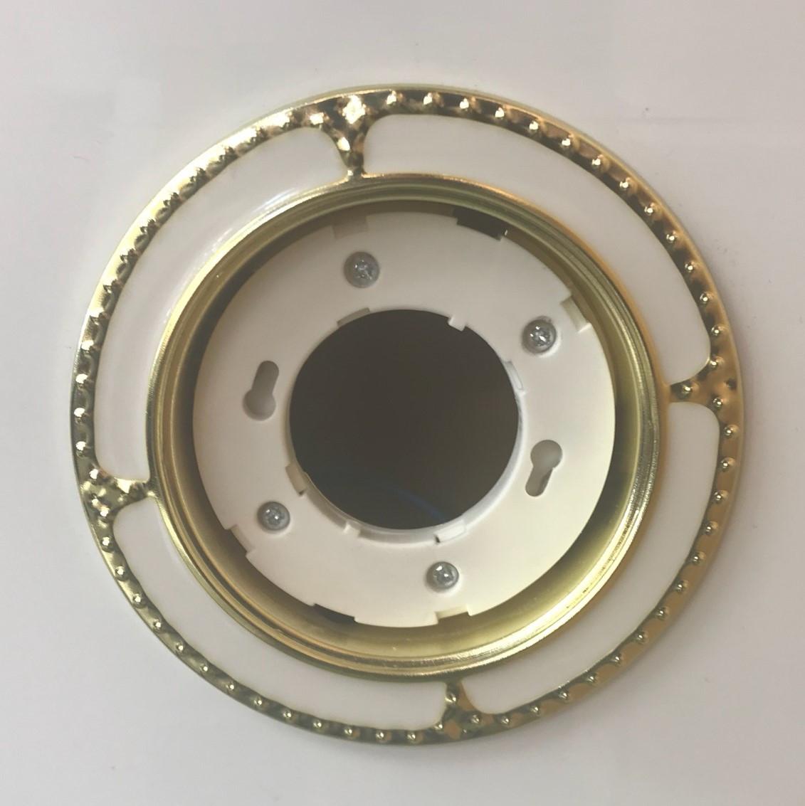 Светильник GX53 золото+белый