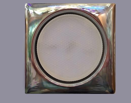 Светильник GX53 хром форма Квадрат