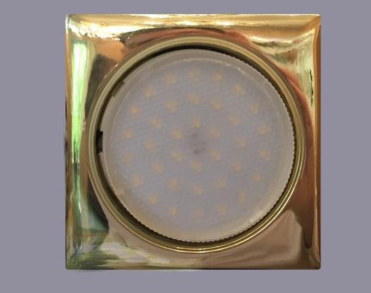 Светильник GX53 золото форма Квадрат