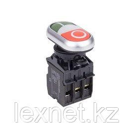 Кнопка пуск-стоп ANDELI LA32HND (зелёная-красная) с подсветкой, фото 2
