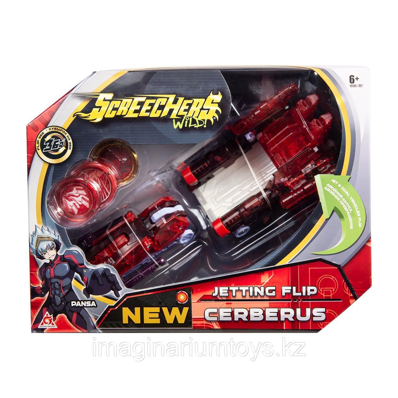 Screechers Wild Машинка-трансформер Турбо Скричер 2 в 1 Церберус