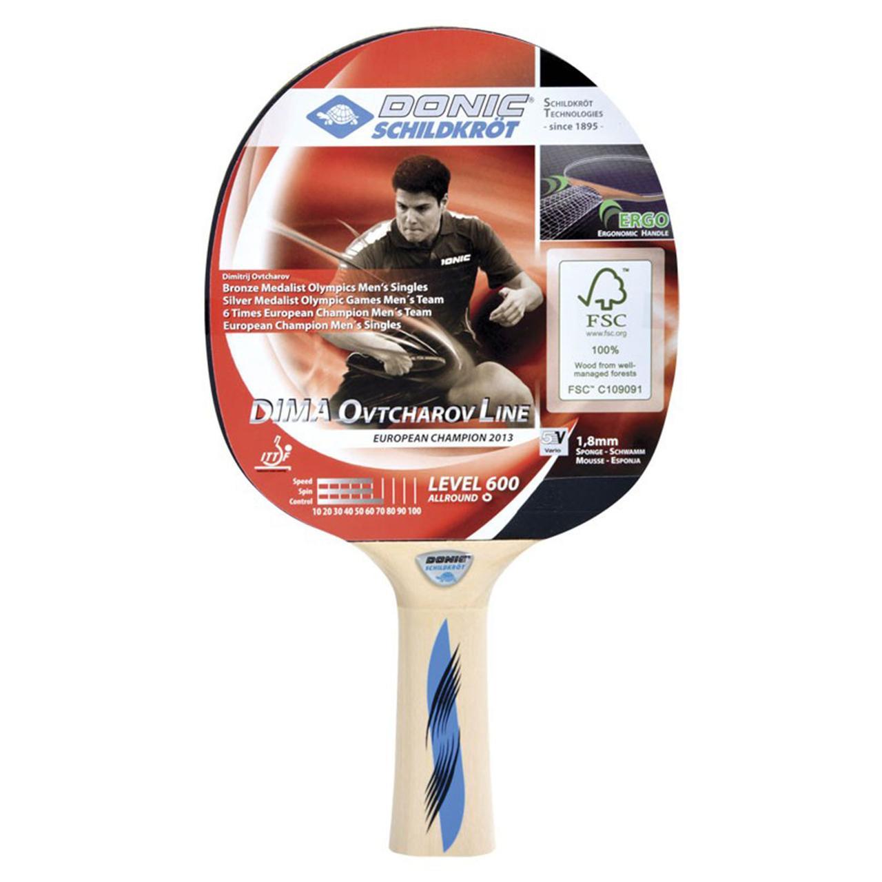 Donic Schildkrot  ракетка для настольного тенниса Dima Ovtcharov 600