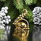 """Сувенир металл """"Мышка Счастья, богатства"""", золото, в коробке 2,8х3,7 см, фото 4"""