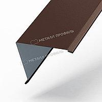 Металл Профиль Планка угла наружного 30х30х3000 NormanMP (ПЭ-01-8017-0.5)