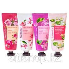 Крем для рук Pink Flowers от FarmStay на основе цветочных экстрактов.