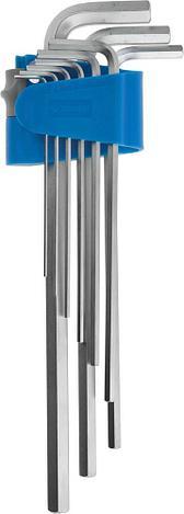 Набор ключей имбусовых ЗУБР длинные,Cr-Mo,сатинированное покрытие,эргоном держатель,HEX 1,5 - 10 мм,9шт, фото 2