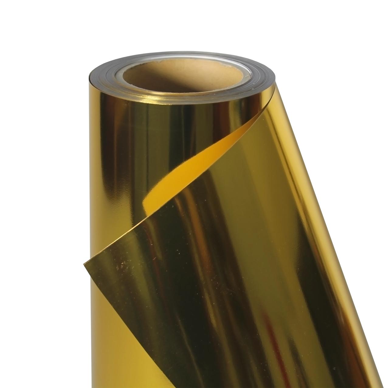 Термо флекс 0,5мх25м PU темное золото зеркальное металлизированное