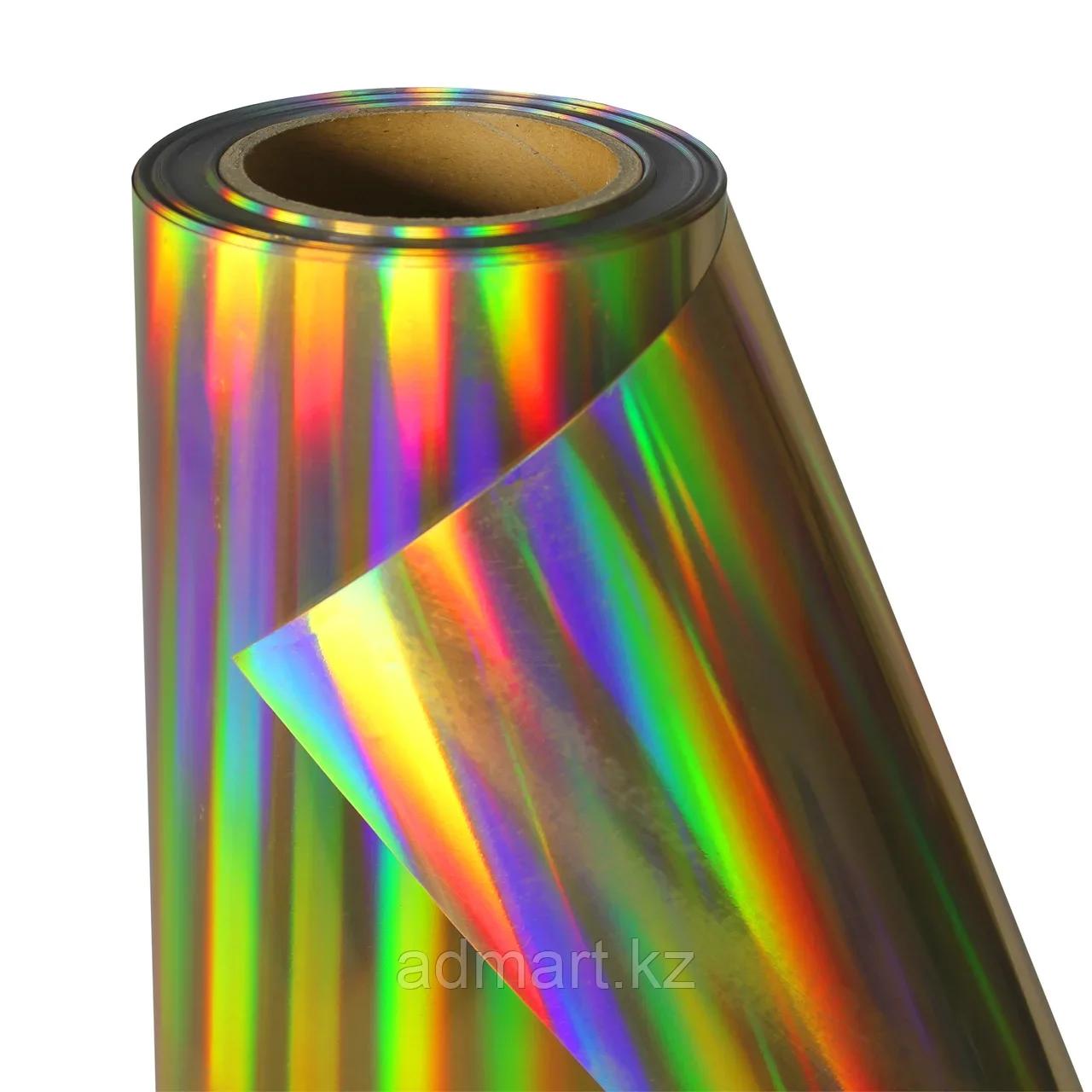 Термо флекс 0,5мх25м PU голографическое темное золото