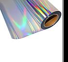 Термо флекс 0,5мх25м PU голографическое серебро, фото 2