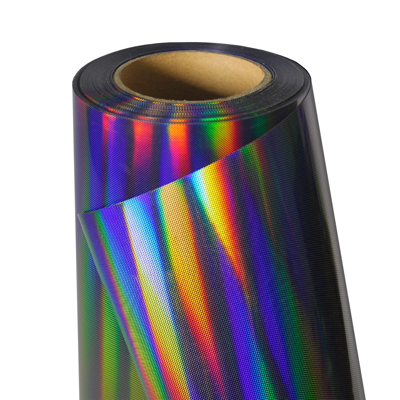 Термо флекс 0,5мх25м голографический черный с узором