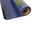 Термо флекс 0,5мх25м голографический черный с узором, фото 2