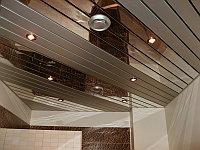 Реечный подвесной потолок A100AS металлик
