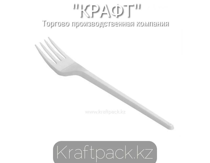 Вилка столовая пластиковая, белая Компакт 165мм (100/4000)