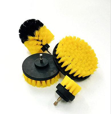 Щетка на дрель (шуруповерт) для чистки текстиля, желтая, от Chemical Guys