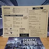Изготовление меню на бумаге Сирио для кафе в алматы, фото 5
