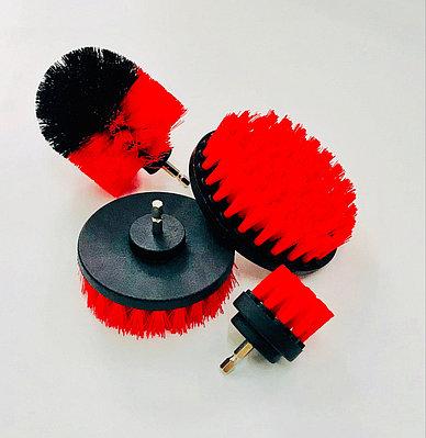Щетка на дрель (шуруповерт) для чистки текстиля, красная от Chemical Guys
