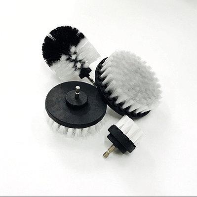 Щетка на дрель (шуруповерт) для чистки текстиля, серая от Chemical Guys
