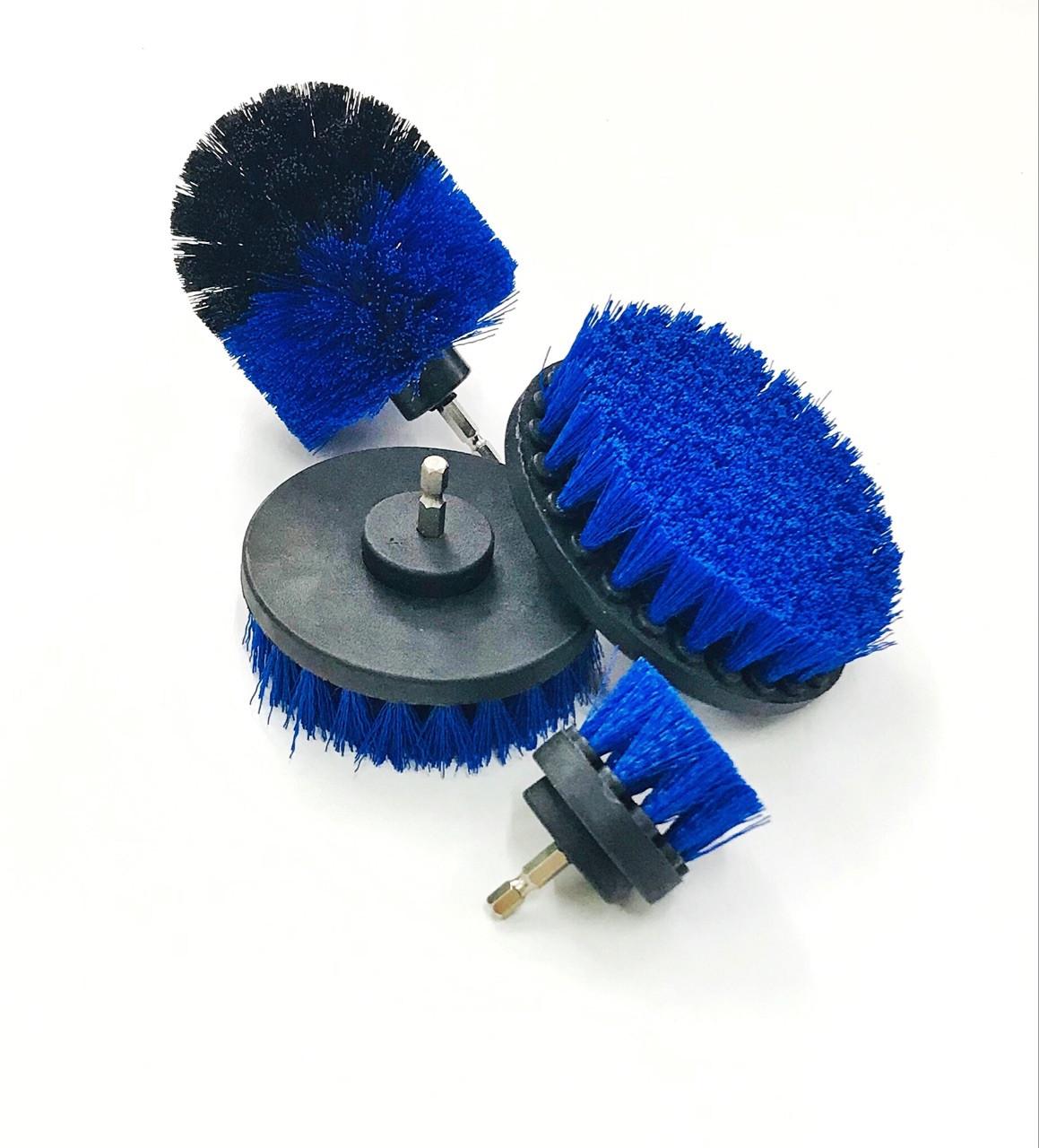 Щетка на дрель (шуруповерт) для чистки текстиля, синяя от Chemical Guys