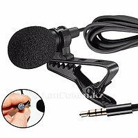Петличный микрофон 3.5 мм jack черный Микрофон на петличке (97)