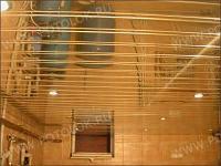 Подвесной реечный алюминиевый потолок. Итальянский(голандский) дизайн, Супер золото.