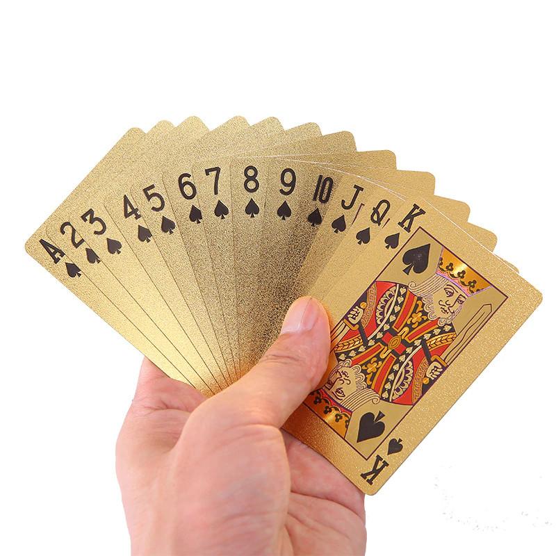 Покерные карты с золотым напылением Golden Premium dollar 54 Карты игральные сувенирные (цветной доллар) - фото 2
