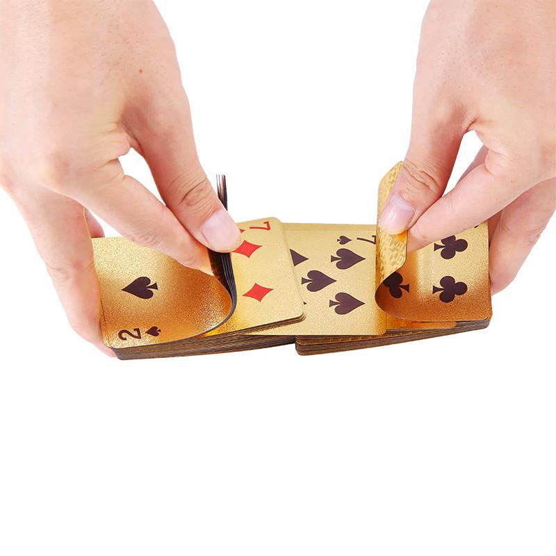 Покерные карты с золотым напылением Golden Premium dollar 54 Карты игральные сувенирные (цветной доллар) - фото 5