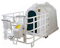 Mini бокс (домик) с полимерным ограждением и навесным оборудованием (БСТ-2П)