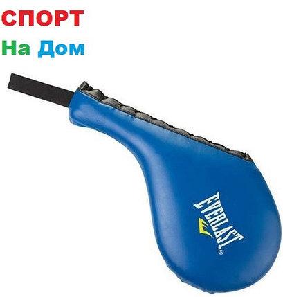 Лапа хлопушка для тхэквондо кожзам Everlast (цвет синий), фото 2